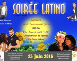 Soirée Latino + Cours de Salsa et Bachata